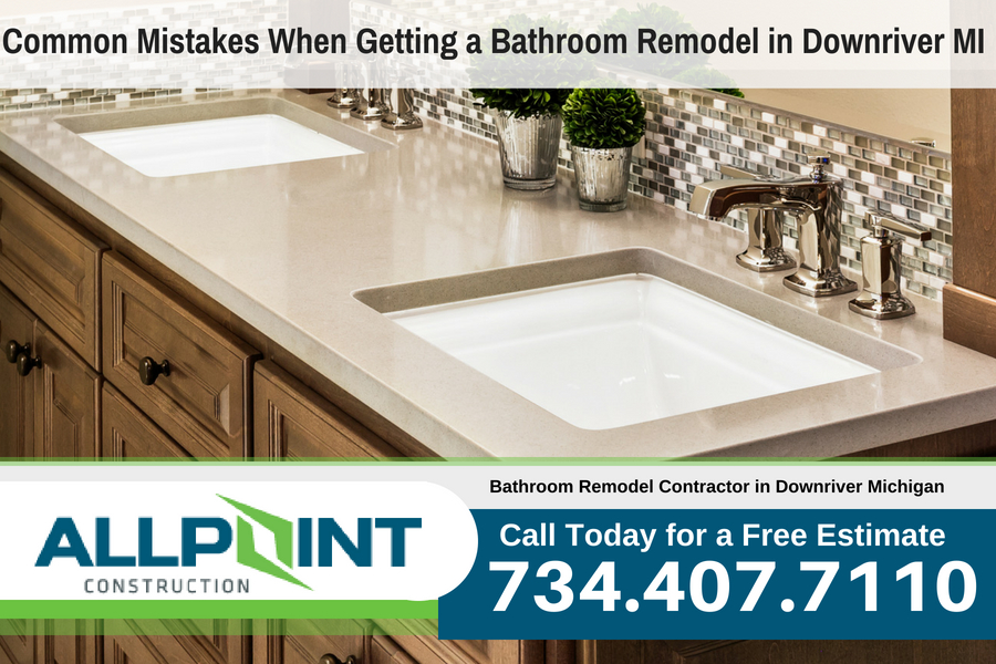 Common Mistakes When Getting a Bathroom Remodel in Downriver Michigan
